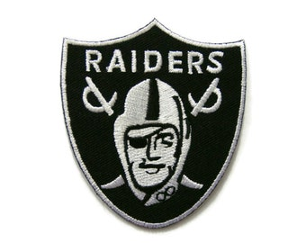 Knight Raiders Embroidered Applique Iron on Patch 6.5 cm. x 7.3 cm.