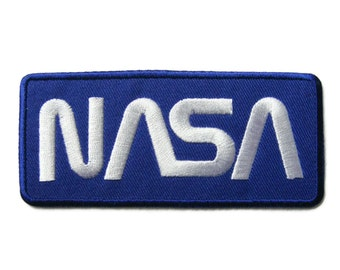 NASA Embroidered Applique Iron on Patch 9.9 cm. x 4.4 cm.