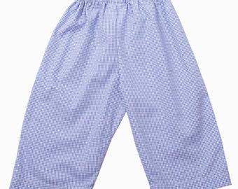 Blue Gingham Boys Pant