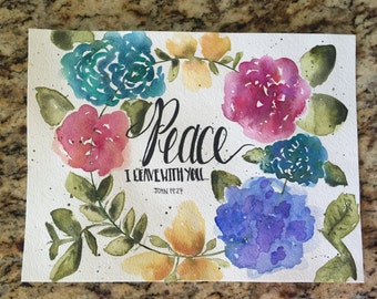 Peace I leave with you John 14:27-watercolor print