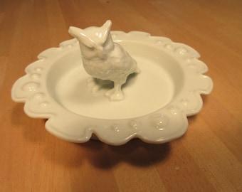 White porcelain China owl