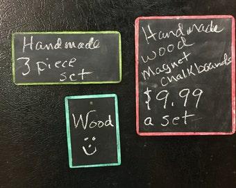 Handmade Wooden Magnet Chalkboard set