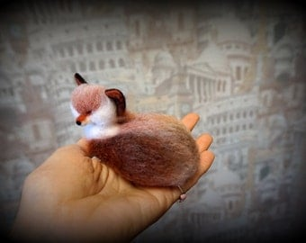 Needle felted Red Fox 2  - Miniature sculpture Handmade Felt toy -  Red Fox as a gift-realistic Red Fox.