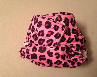 AIO Cloth Pocket Diaper- Velcro - Animal Print