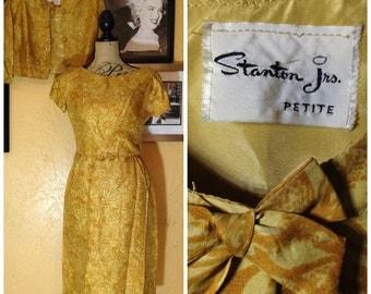 golden vintage Stanton Jr. Petite dress with bolero