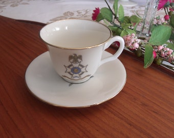Sons of the American Revolution Teacup and Saucer