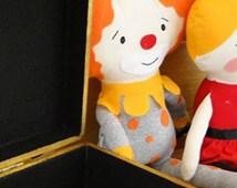 Clown Fabric Doll, Fabric Doll, Clown Doll, Clown Softie, Clown Baby, Clown Toy