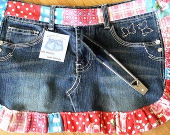 Denim Little Girls Apron (Repurposed Jeans)