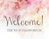 Digital Download WiFi Password Print Wall Art