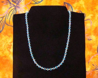 20 inch Celestial Crystal Aquamarine Necklace