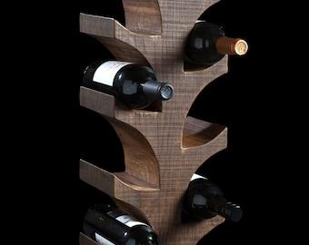 Wine Rack Oak wax Finish