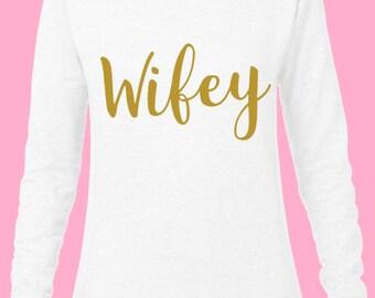 Wifey sweatshirt, Wifey slouchy sweatshirt, slouchy sweatshirt, Off the shoulder sweatshirt, off the shoulder sweater, Wifey