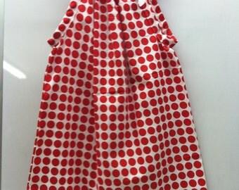 Crimson Candy Dot  Dress
