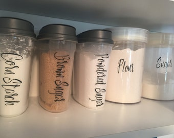Personalized Vinyl Decals - Vinyl Labels - Pantry Organization - Ingredient Organizer