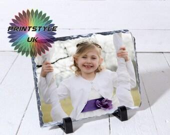 Personalised Rock Slate Photo Frame