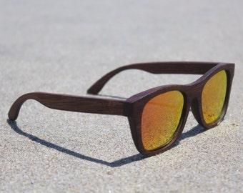 Bamboo Sunglasses - Polarized - Float - 100% Bamboo - Woody Frames - Sunburst Boozers