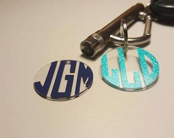 Monogrammed keychains