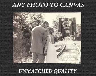 Custom Wedding Canvas -- Any Photo to Any Size Canvas