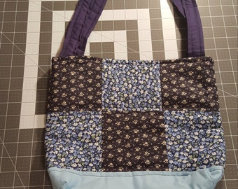 Quilted navy blue purse