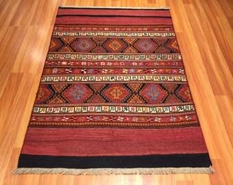 Soumak mafras handwoven embroidery wool kilim kurdish rug
