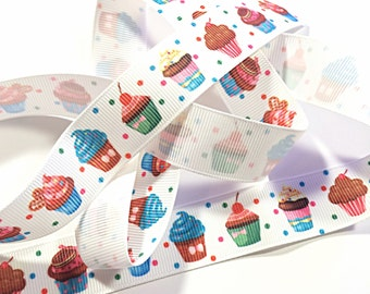 kawaii cupcake ribbon - sweets ribbon