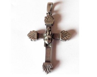 Vintage Silver Cross Crucifix Stamped 925