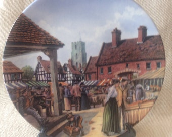 "Royal Doulton Limited Edition ""Journey Through the Village"" series plate- The Market Square"