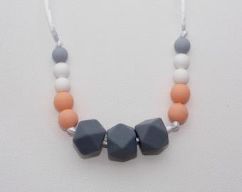 Peach Melba Teething Necklace
