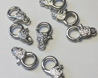 2 FANCY LOBSTER Clasps, 16MM