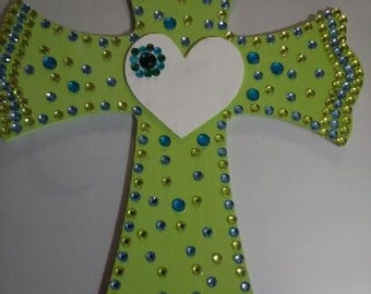 Lime Green Color Wall Cross