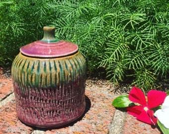 Textured Lidded Jar