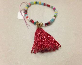 Multicolor Swarovski Beaded Bracelet
