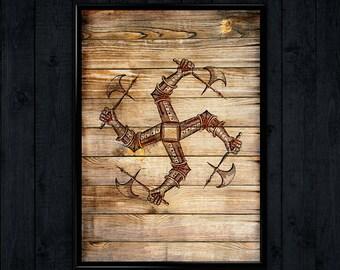 Templar Illustration, Medieval Poster, Renaissance Art decor, Wall Hanging   WP128