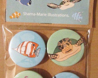 Sealife Badge Set