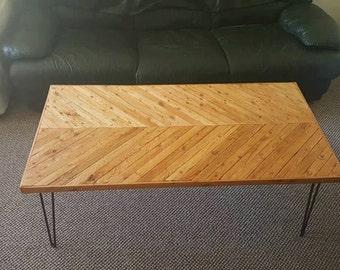 Mid-Century Coffee Table <3 Reclaimed Wood <3