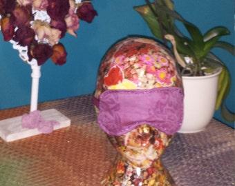Purple decorated sleep eye mask