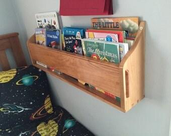 Personalized Wall hanging bookshelf
