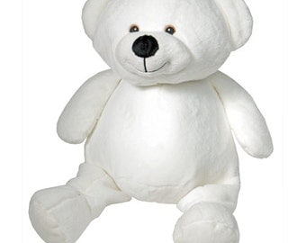 Embroidery Buddies- Bear (White)