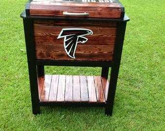Atlanta Falcon Wooden Cooler Ice chest