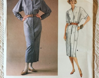 Vogue 1822 Calvin Klein Dress Sewing Pattern