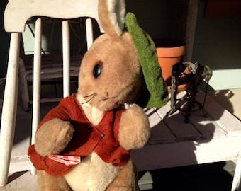 Vintage Peter Rabbit Plush Stuffed Bunny 1960s Beatrix Potter Peter Rabbit