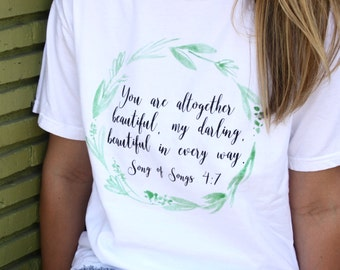 Song of Songs Graphic Tee // Bible Verse T Shirt // Scripture Gift