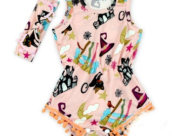 witchy romper with headband