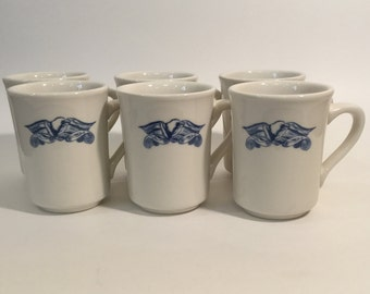 Set of 6 Vintage Syracuse China Eagle Coffee Mugs