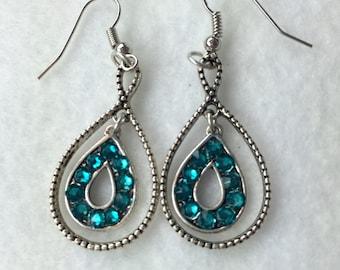 Aquamarine Swarovski Earrings