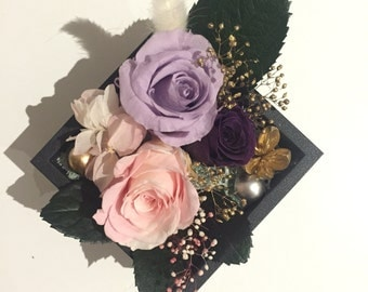 Preserved Flower Arrangement_Black&Purple