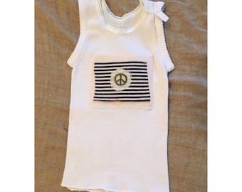 baby singlet,baby tanktop,baby tops,handmade,baby gift,baby shower gift,christmas gift,hippie clothing,boho clothing,girls clothing,peace