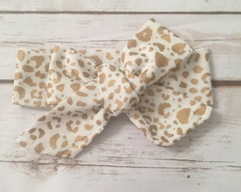 White Cheetah Headwrap