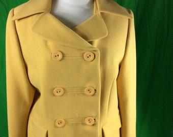 Canary yellow wool jacket.