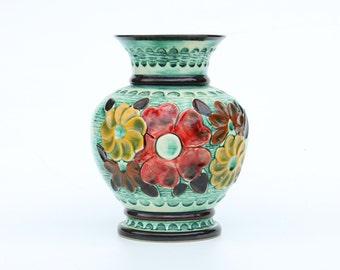 75% off last chance-Retro Bay Keramik 98 25 vase with flowers-West Germany